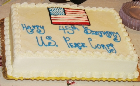 Peace Corps' 45th Birthday Cake