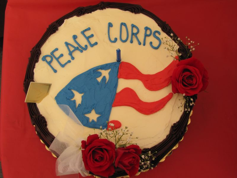 Peace Corps 50 In Eugene: Peace Corps Cake from March 1